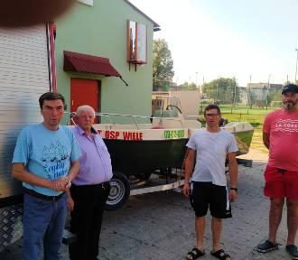 Ochotnicy w Wiela dostali łódź, która ułatwi akcje ratownicze prowadzone na wodzie