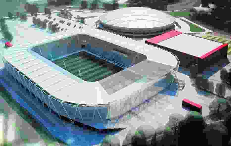 Tak według projektu miały wyglądać nowy stadion i hala przy al
