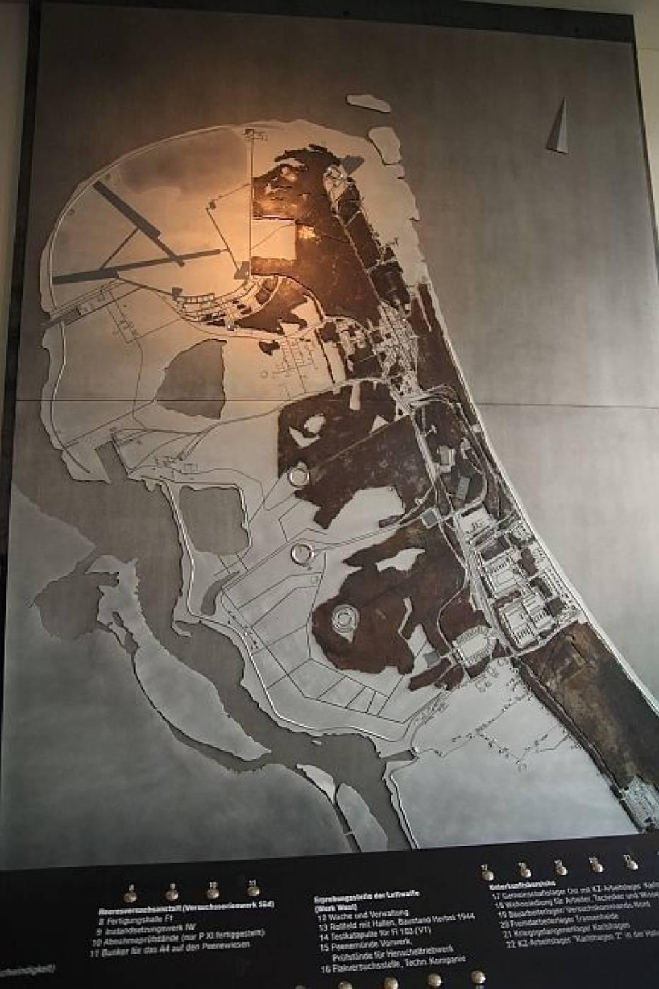 Mapa Peenemünde