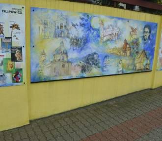 Oryginalne przypomnienie sylwetki Stanisława Filipowicza na muralu w centrum Dzierzgonia [ZDJĘCIA]