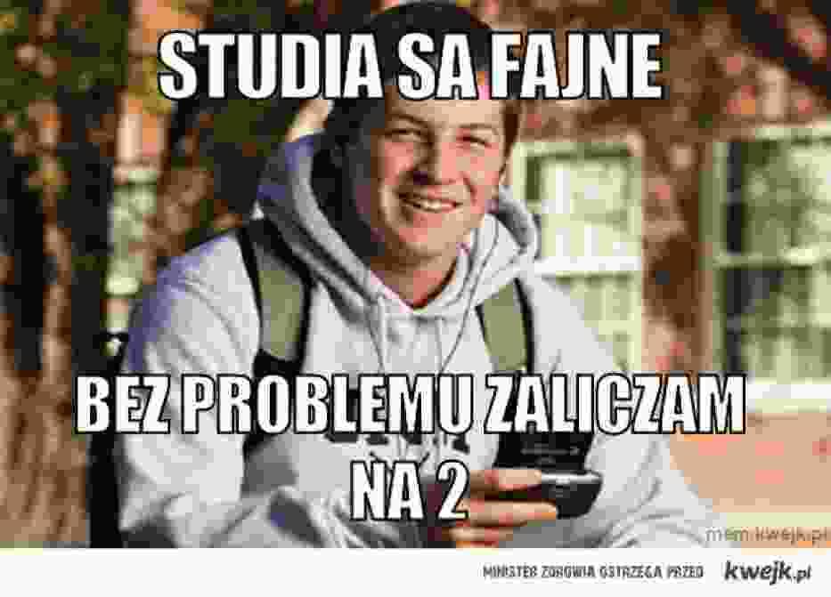 Najzabawniejsze memy u polskich studentach