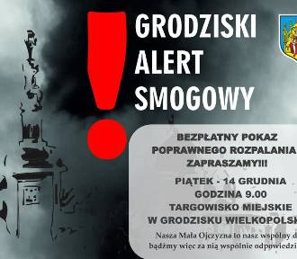 Grodziski Alert Smogowy: Jutro bezpłatny pokaz poprawnego rozpalania