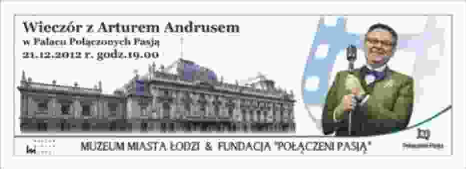 Artur Andrus w Pałacu Połączonych Pasją - plakat