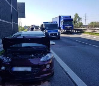 Karambol na S1 w Mysłowicach. W wypadku brało udział kilka samochodów