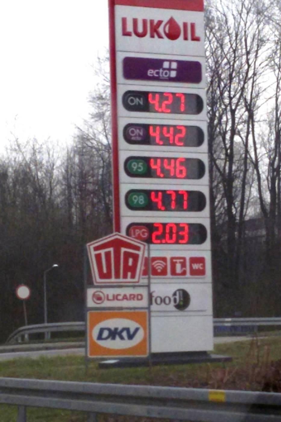 Bielsko-BiałaStacja paliw Lukoil Al