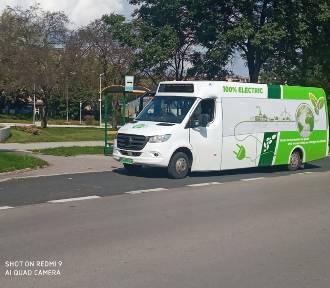 Elektryczny autobus na ulicach Sandomierza. Kiedy pojawią się na stałe? [ZDJĘCIA]