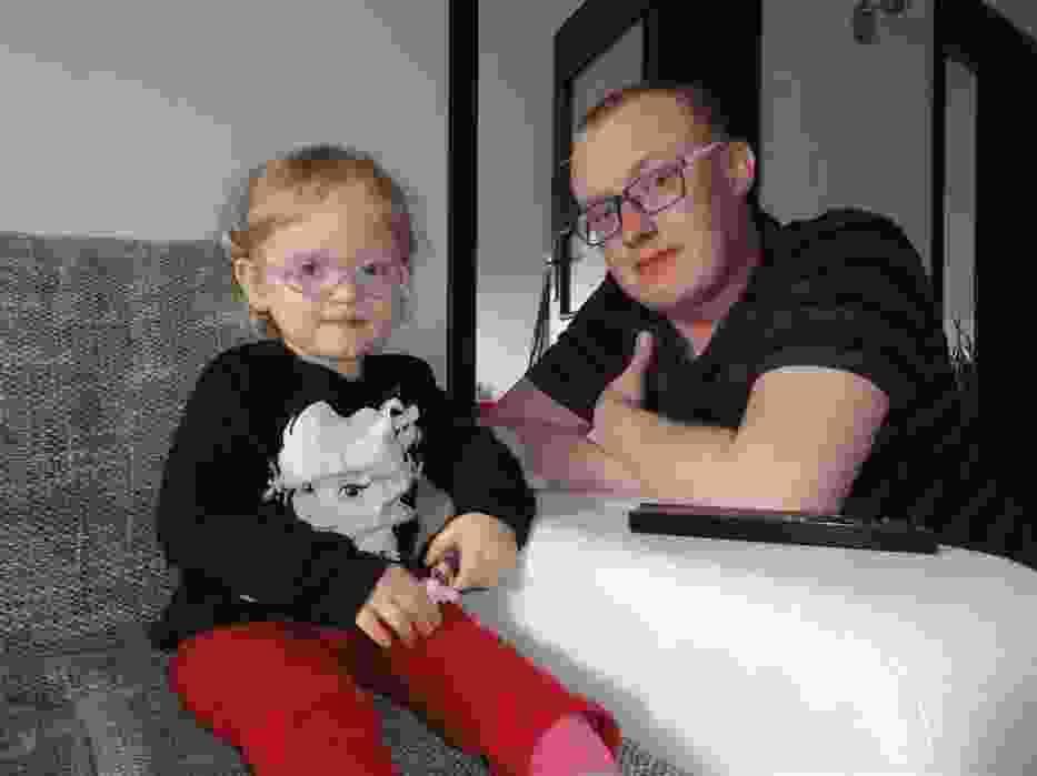 Milenka Plichta z tatą Michałem