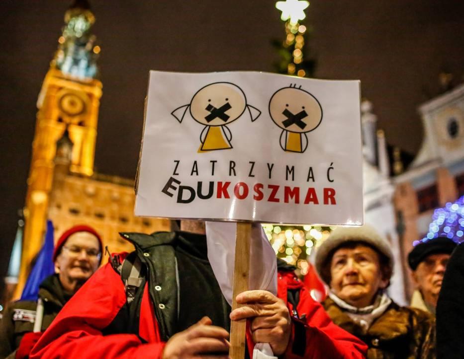 Nauczyciele już protestowali w Gdańsku przeciwko reformie edukacji