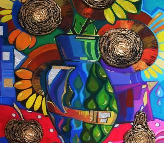 Wystawa obrazów kocią sierścią malowanych [zdjęcia]