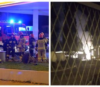 Pożar zbiornika na gaz. Groźnie na stacji paliw przy ulicy Okrężnej we Włocławku [zdjęcia]