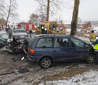 Wypadek na ulicy Kisielickiej w Prabutach. Kierujący audi uderzył w drzewo [ZDJĘCIA]