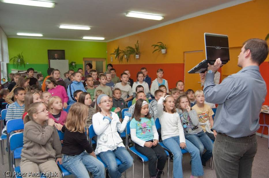 Krzysztof podczas swojej prelekcji