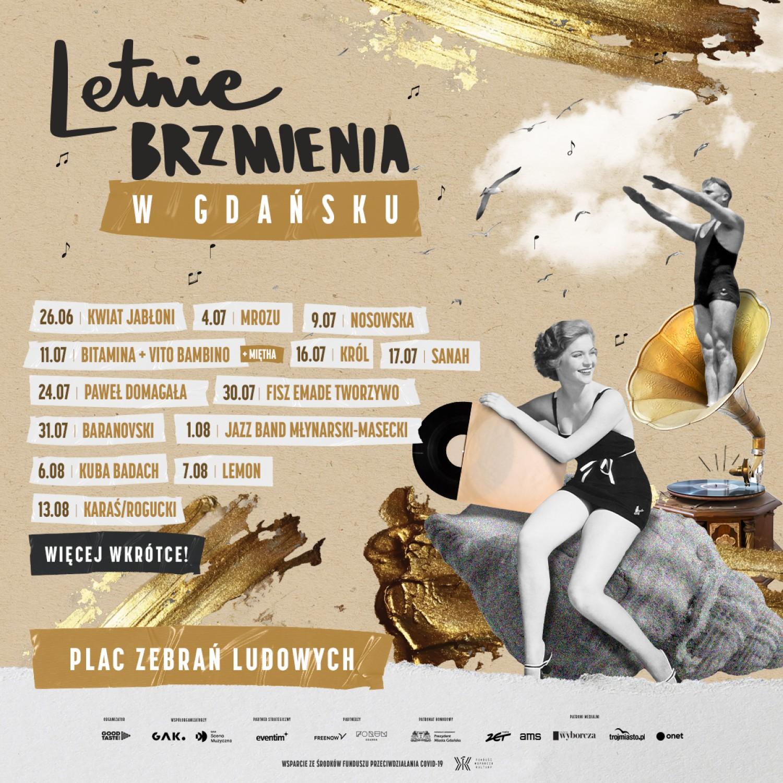 Letnie Brzmienia 2021 w Gdańsku - program