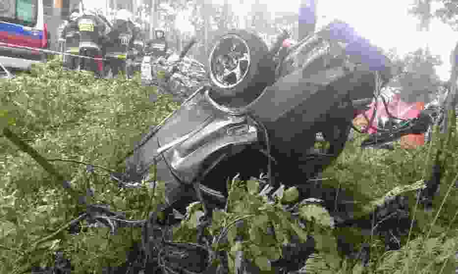 Wypadek na DK1 w Kobiórze