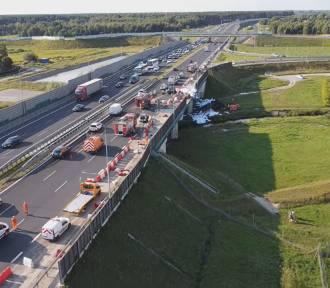 Wstrząsające nagranie z wypadku na trasie S8 pod Warszawą