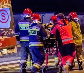 Wałbrzych: Wypadek z udziałem motocyklisty na al. Podwale (ZDJĘCIA)