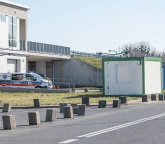 Kontenery przy szpitalu będą pełnić funkcję izolatek