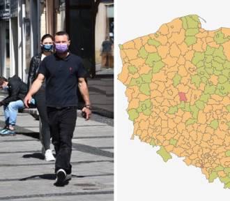 """Koronawirus. Mamy już """"zielone"""" strefy w Śląskiem! Gdzie wskaźnik jest najmniejszy?"""