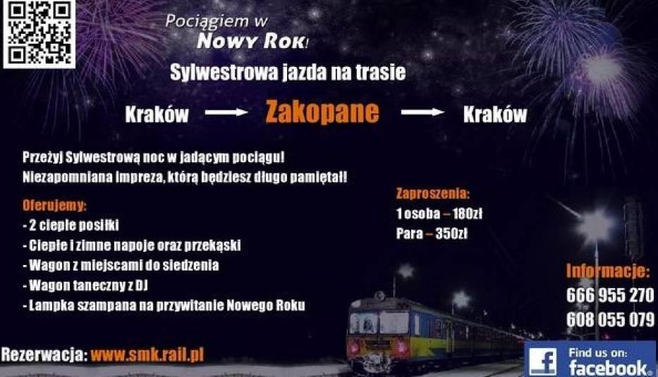 Sylwester w pociągu z Krakowa do Zakopanego