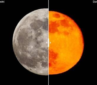 Księżyc przed i dzień po zachwycającej Superpełni