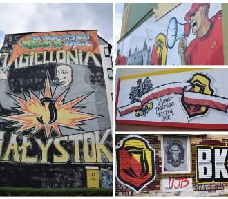 Z miłości do Jagi. Murale i graffiti Jagiellonii Białystok [zdjęcia]