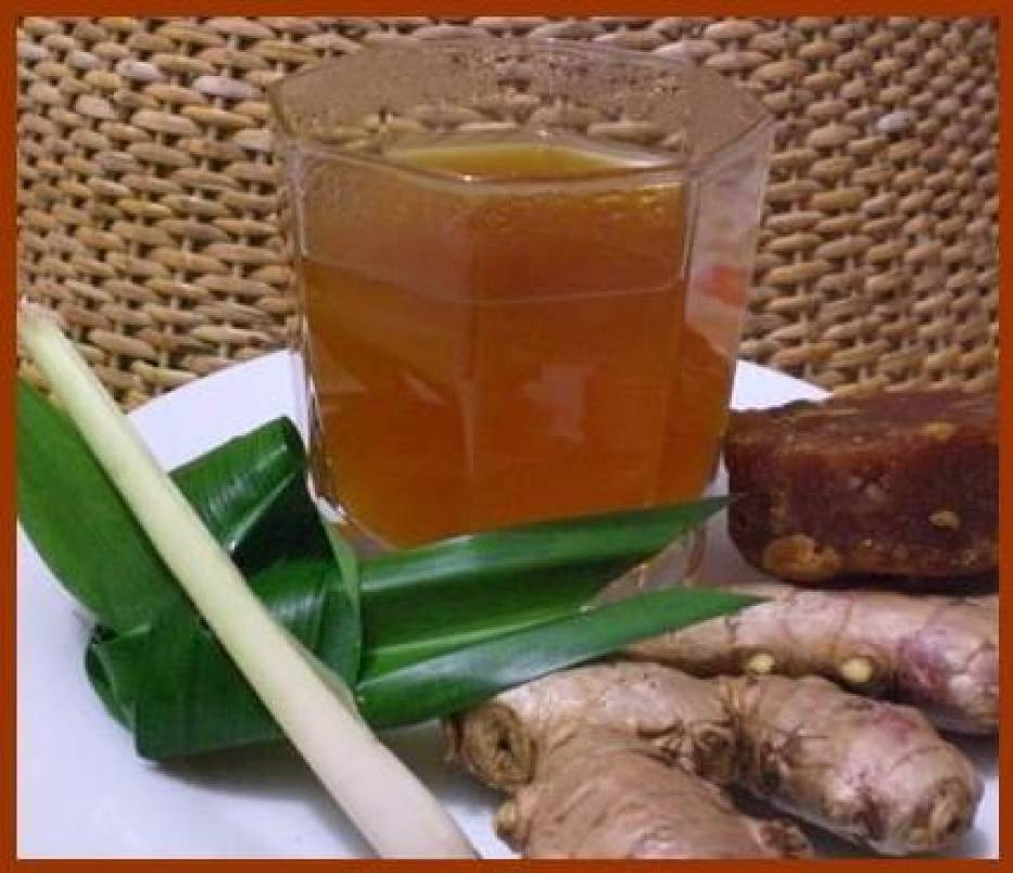 Tradycyjny indonezyjski napój imbirowy