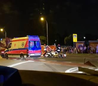 Będzin: Wypadek motocyklisty pod Urzędem Miejskim. Mężczyzna był pijany, miał ponad 3. promile!