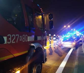 Kraków. Wypadek na A4 w Balicach