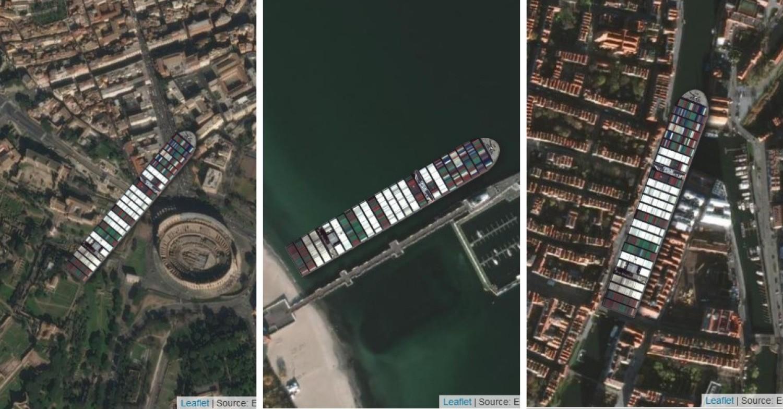 400-metrowy kontenerowiec Ever Given w ubiegłym miesiącu zablokował Kanał Sueski i stał się znany na całym świecie! Teraz możesz zablokować nim dowolne miejsce
