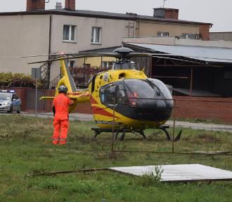Strażacy i LPR w Zdunach. Niestety mężczyzny nie udało się uratować [ZDJĘCIA + FILM]