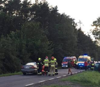Wypadek w Kromolinie Nowym koło Szadku na drodze wojewódzkiej nr 710