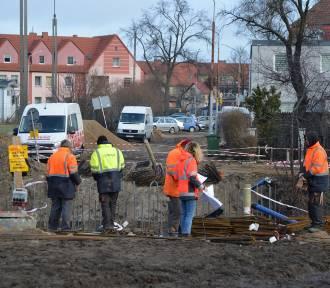 Lębork. Tak wygląda postęp prac przy budowie mostu i na Kazimierza Wielkiego