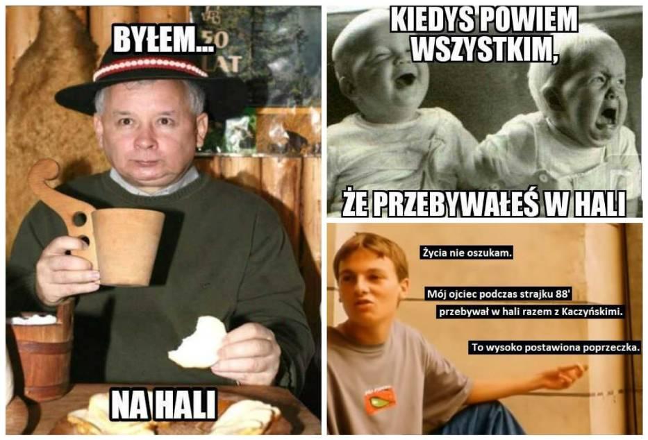 Przebywali w hali - MEMY z braćmi Kaczyńskimi hitem internetu