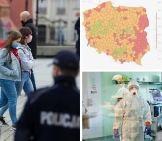 """""""Żółte strefy"""" w Śląskiem? Tam sytuacja jest coraz poważniejsza! Zobacz MAPĘ"""