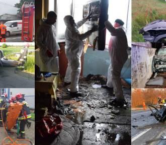 Interwencje strażaków na terenie powiatu wieluńskiego. Gdzie i kiedy wyjeżdżała straż