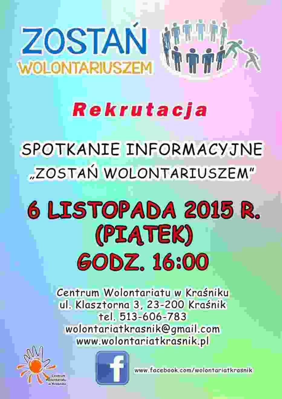 Centrum Wolontariatu w Kraśniku szuka wolontariuszy