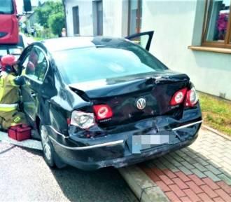 Warszkowo. Ciężarowy Man wjechał w tył Volkswagena. Dwie osoby ranne ZDJĘCIA