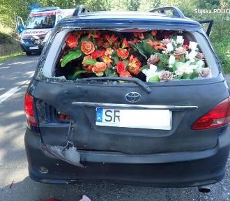 Wypadek motorowerzysty w Lyskach. Trafił do szpitala