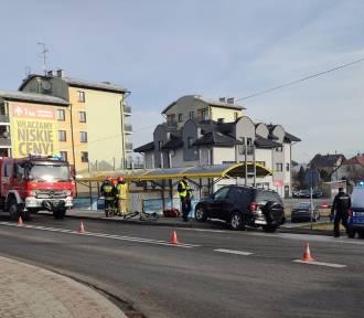 Potrącenie rowerzysty na DK 28 w Wadowicach [ZDJĘCIA]