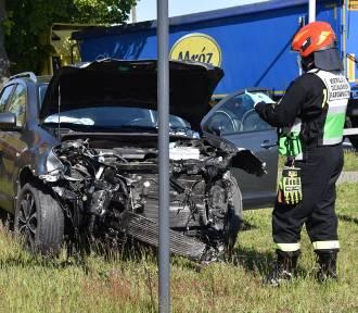 Wypadek na skrzyżowaniu ul. Grunwaldzkiej z 1 Maja