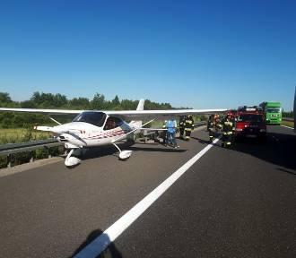 Awionetka awaryjnie lądowała na autostradzie A4 pod Rzeszowem