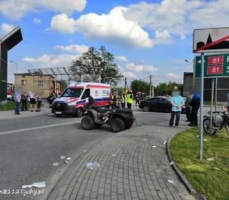"""Koszmarny wypadek na """"wiślance"""". Lądował LPR"""