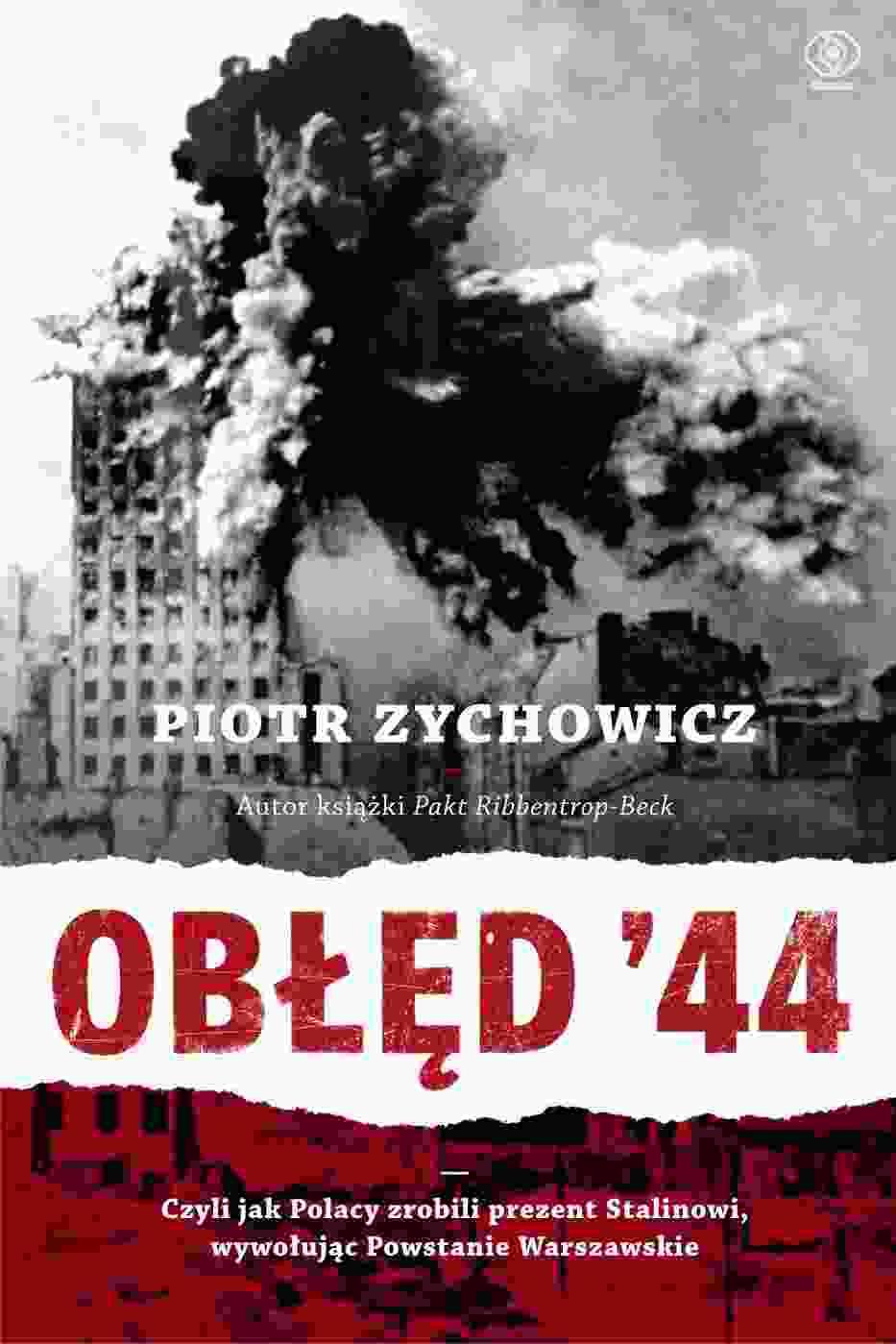"""Okładka książki """"Obłęd'44"""""""