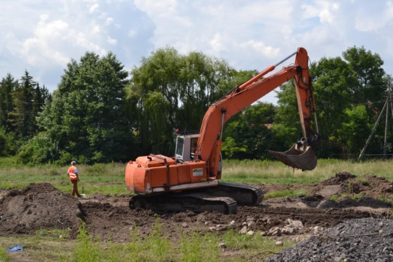 Budowa zbiornika w Straszynie