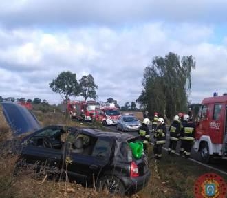 Wypadek pod Skokami. Na miejsce wysłano strażaków [GALERIA ZDJĘĆ]