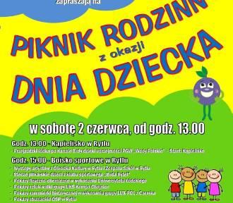 Gmina Czersk.  Zaproszenie na Piknik Rodzinny z okazji Dnia Dziecka w Rytlu. Zobacz jakie będą atrakcje!