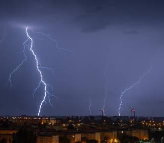 Nocna burza w Inowrocławiu. Zobaczcie zdjęcia