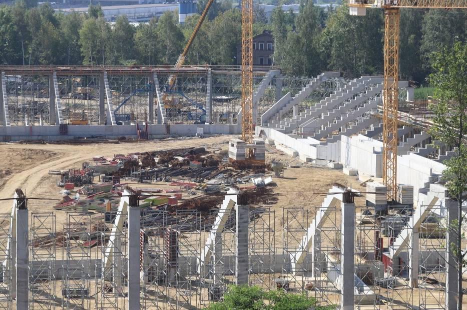 Budowa stadionu i hali sportowej przebiega zgodnie z harmonogramem