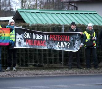 Protestowali przeciwko odstrzeleniu dzików w regionie