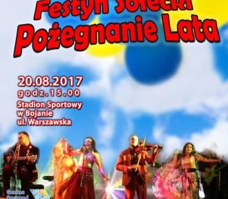 """Festyn Sołecki """"Pożegnanie Lata"""" 20 sierpnia w Bojanie"""